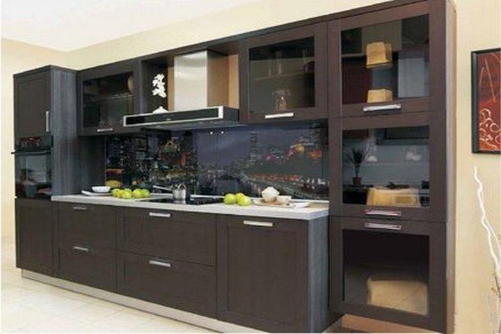 Стеклянные рамочные фасады кухни