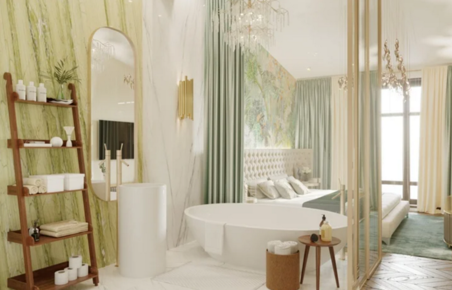 Тропические мотивы в ванной