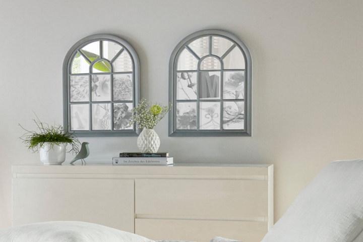 Фальш-окна в спальне