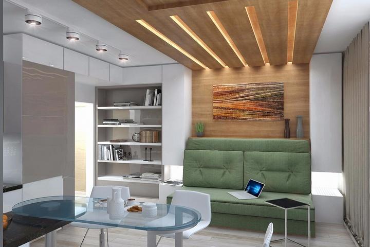 Зонирование и интегрированная мебель