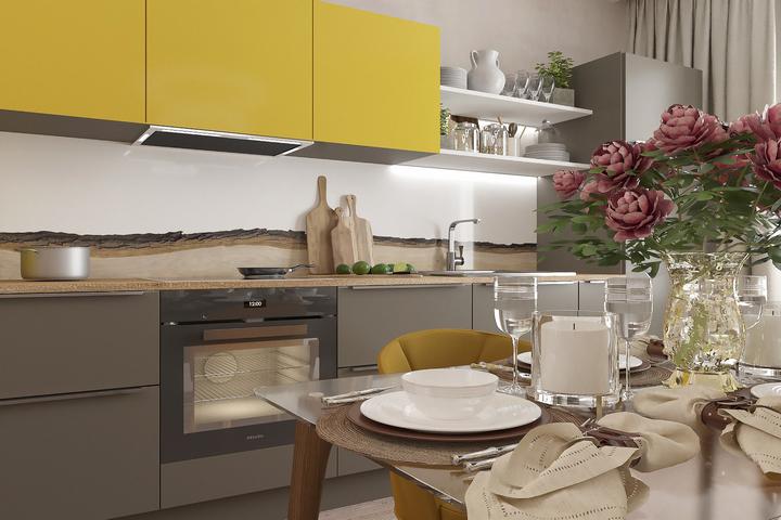 Нейтральная цветовая гамма кухни