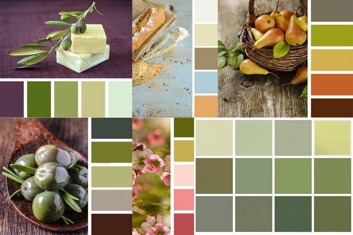 Палитры сочетаний с оливковым цветом