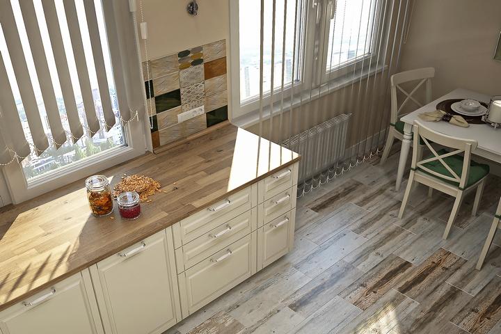 Чистая столешница на кухне