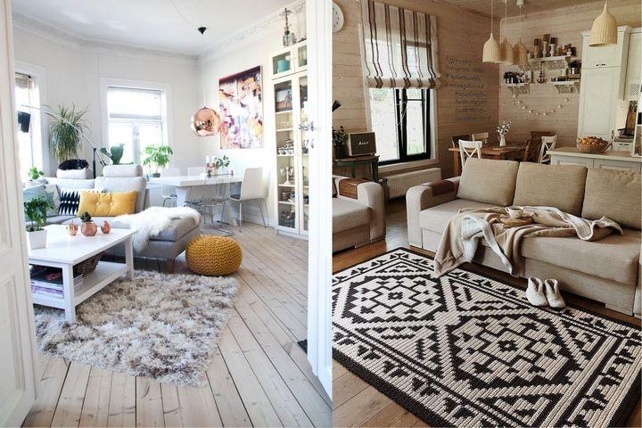 Мягкие ковры в интерьере