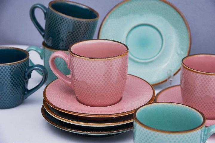 Цветная керамическая посуда для дома
