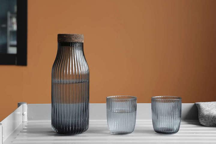 Рифленый графин для воды и стаканы