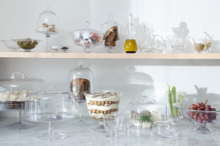 Прозрачная посуда для десертов и снэков