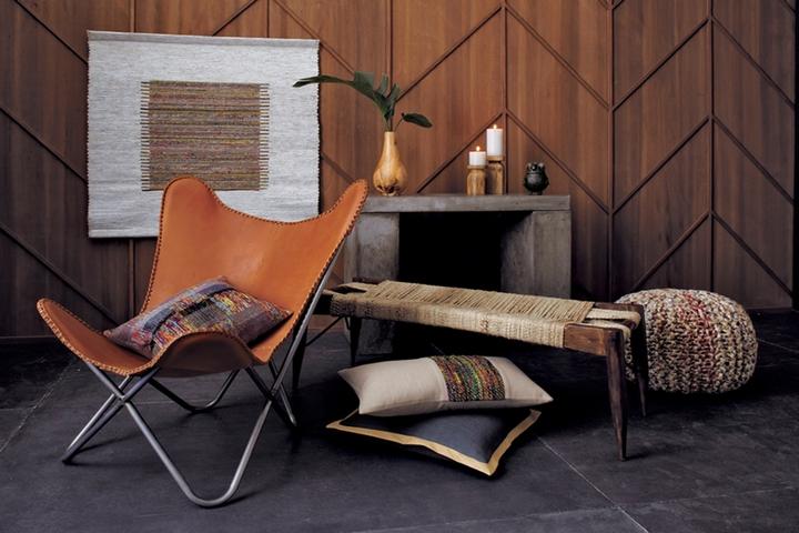 Кожаное кресло в стиле сафари