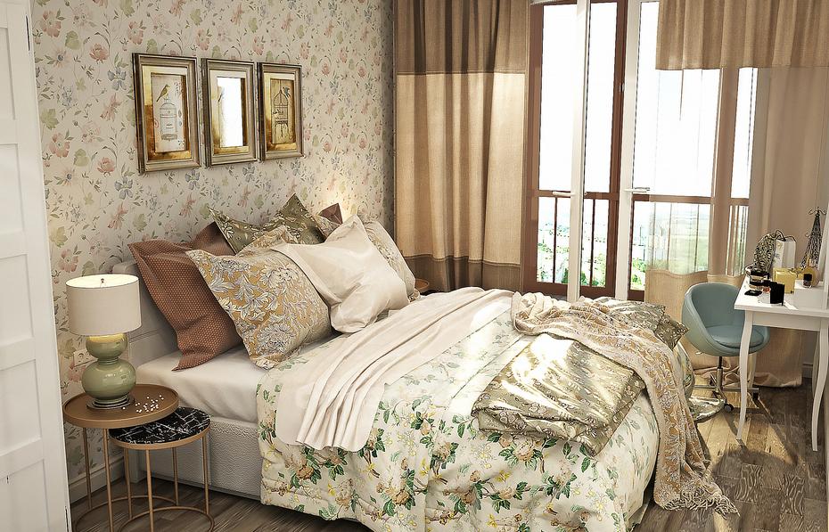 Уютная спальня с элегантными деталями