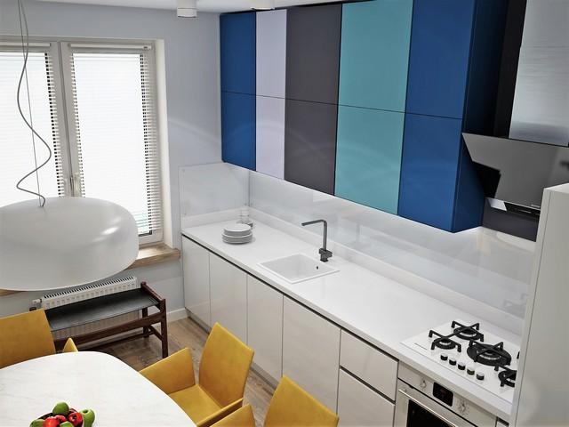 Кухня с яркими элементами