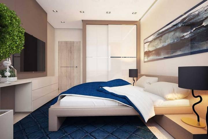 Спальня с вертикальным озеленением