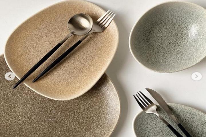 Посуды в стиле тераццо