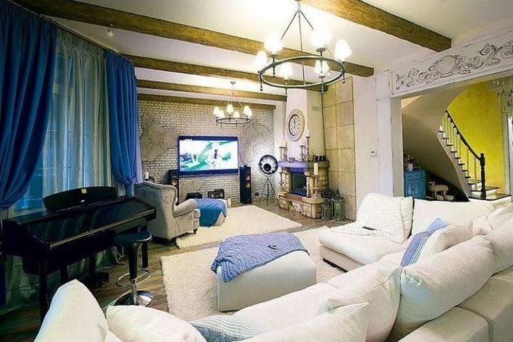 Гостиная в стилях прованс и кантри
