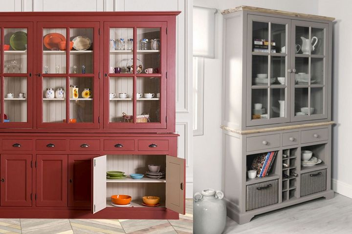 Шкафы-витрины в разном стиле и размеров