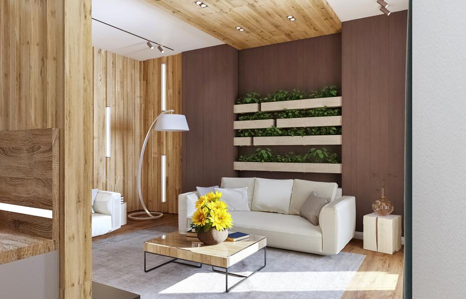 Современный дизайн гостиной от Ремэлль