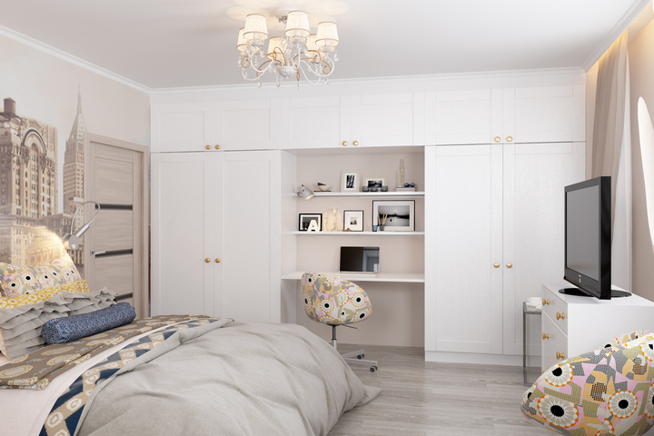 Встроенные шкафы в спальне