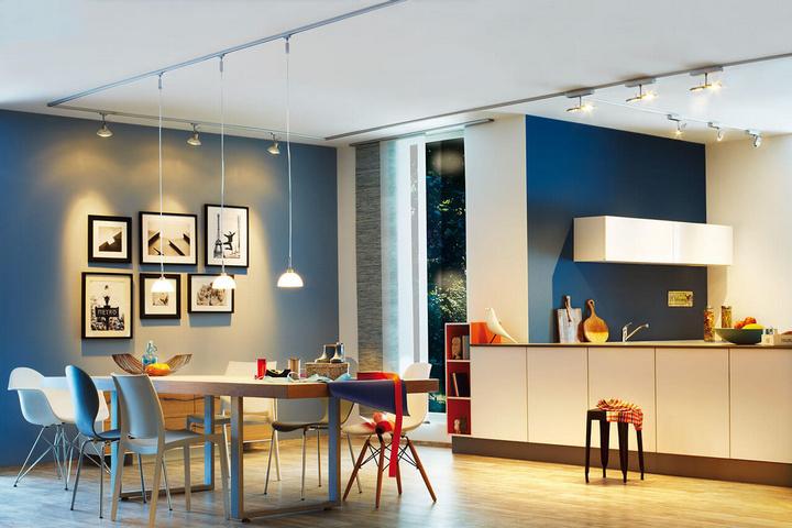 Светодизайн в кухне-гостиной