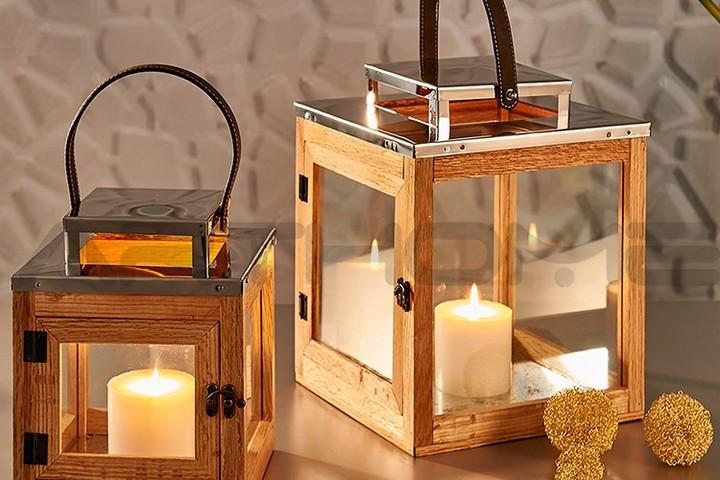 Подсвечник-фонарь со свечами