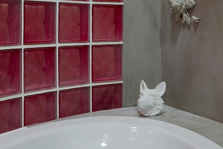 Ванная комната за стеклянной стеной