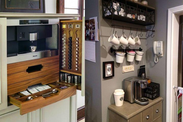 Кофейная станция в разных стилях