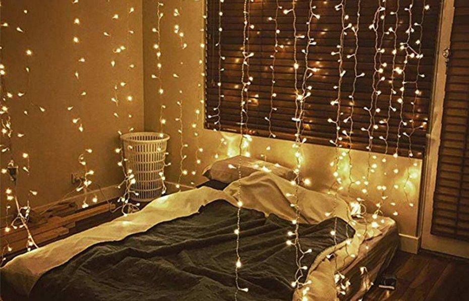 Светодиодный декор спальни