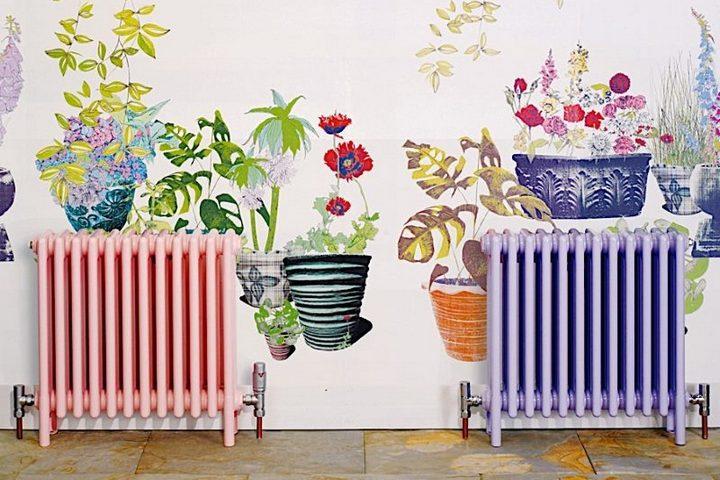 Окрашенные радиаторы в цвет рисунка стены