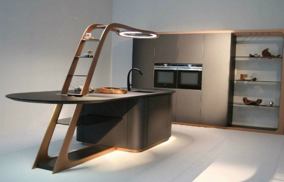 Технологичный кухонный гарнитур
