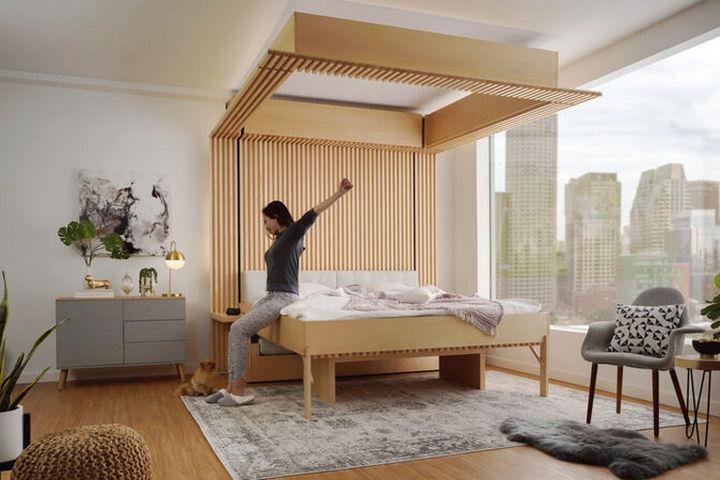 Кровать с лифтовым механизмом