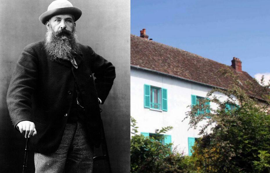 Клод Моне и его дом с цветными ставнями