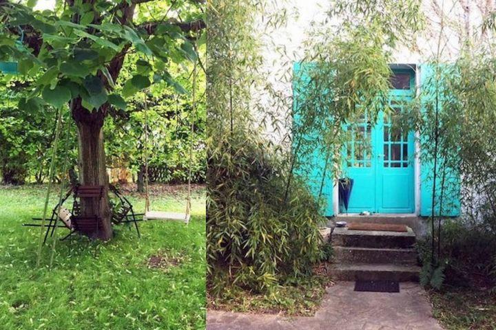 Внутренний дворик и главный вход в особняк