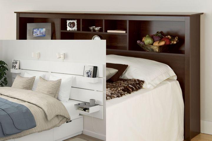 Поверхности для хранения в конструктиве кровати