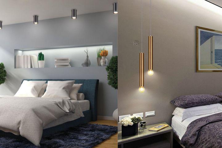 Лаконичное освещение в спальне