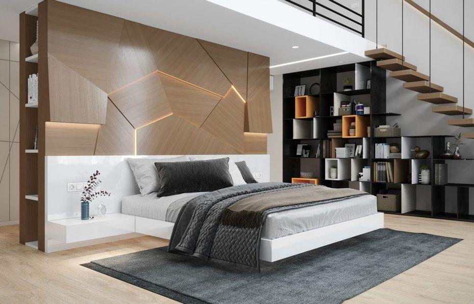 Парящая кровать со скрытым основанием