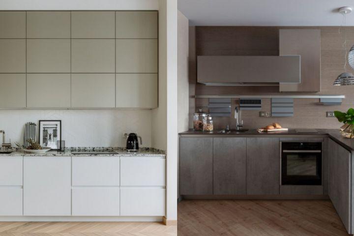 Кухни с минималистичными фасадами