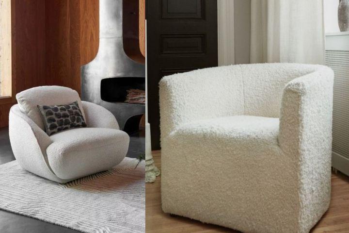 Кресла с обивками из букле
