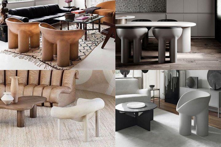 Трубчатые кресла разных цветов