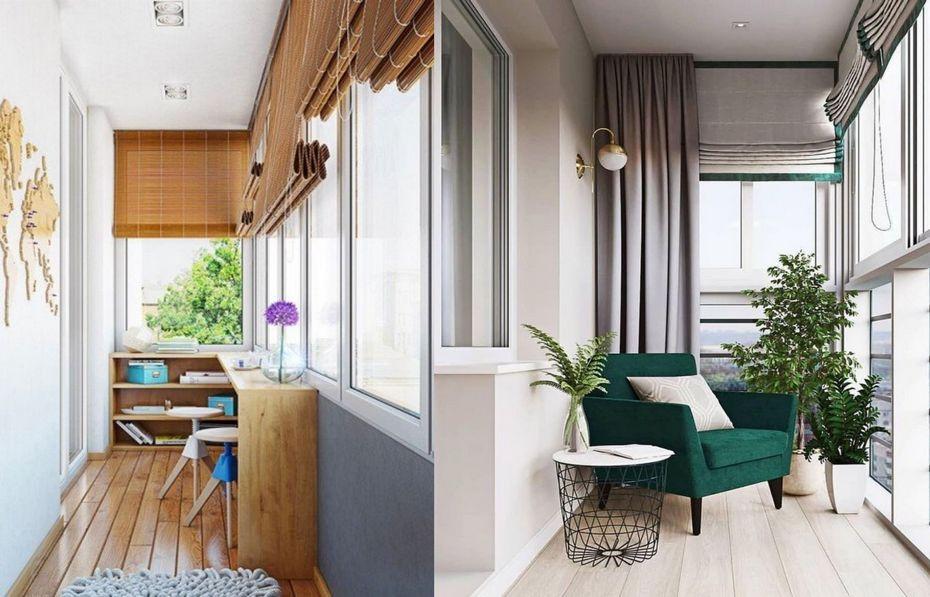 Интерьеры балконов
