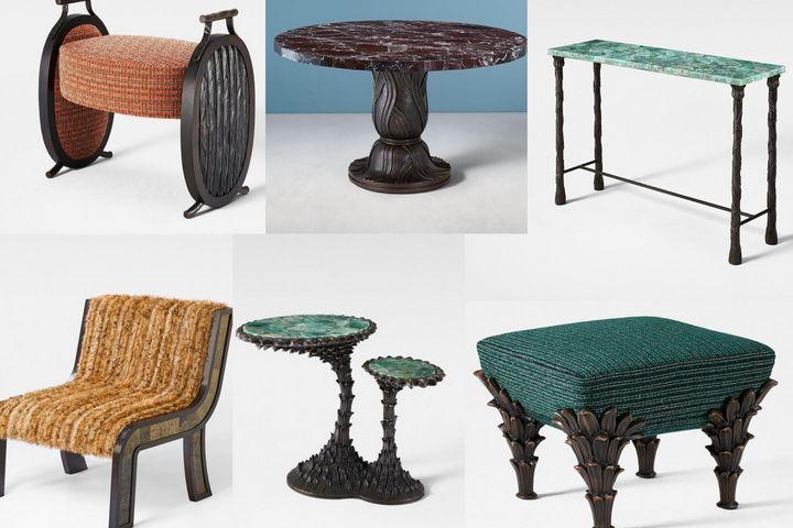 Классическая мебель с кованным металлом