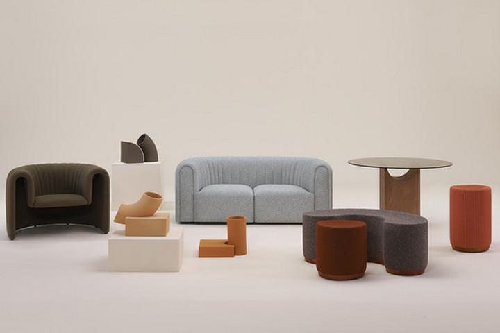 Мебель с плавным дизайном