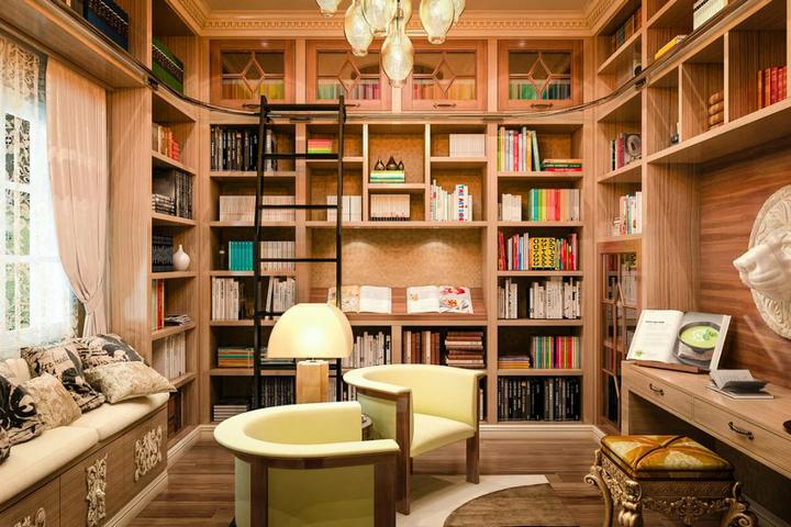 Домашняя библиотека и кабинет