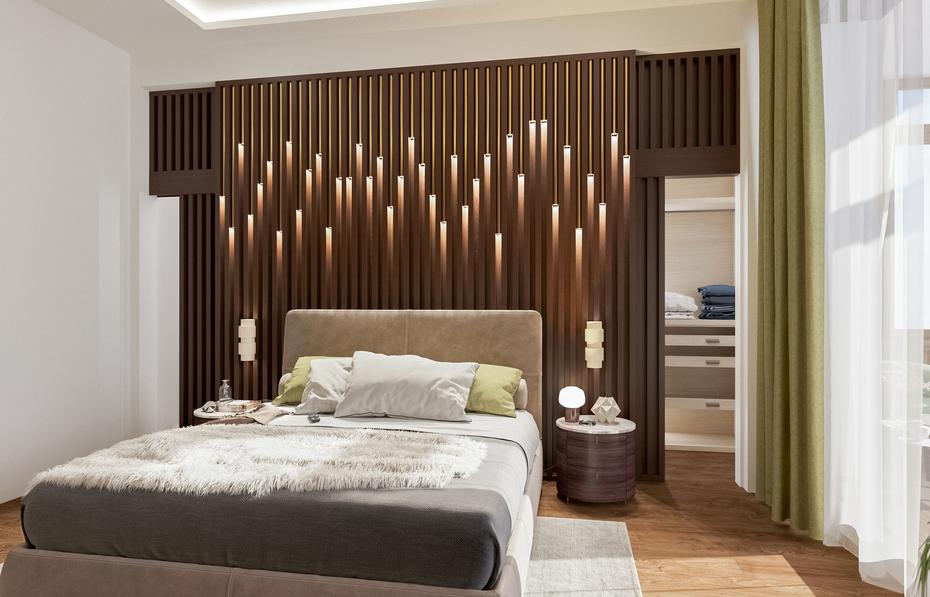 Авторский дизайн спальни от Remelle на Вязовой улице