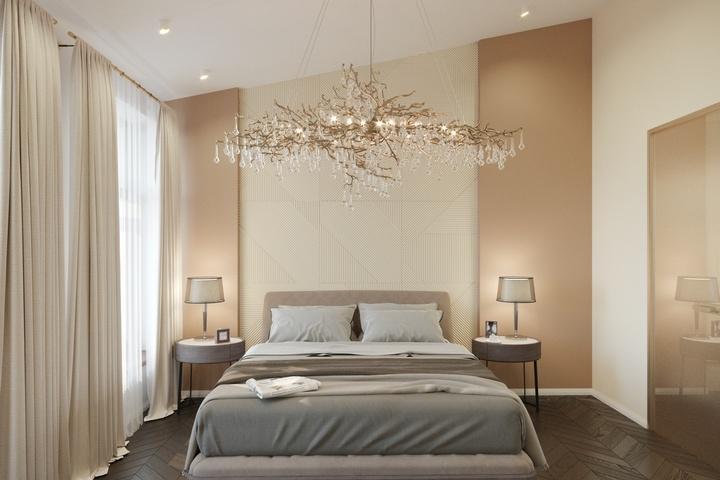 Авторский дизайн спальни от Remelle на Стремянной улице