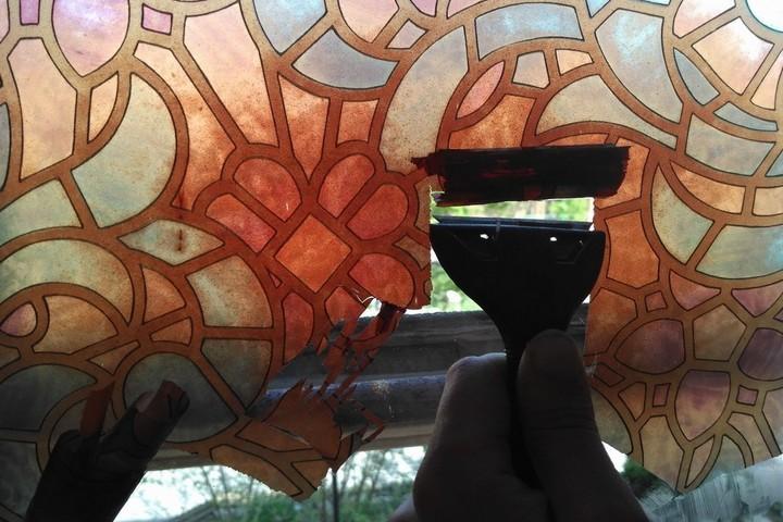Снятие пленки со стекла