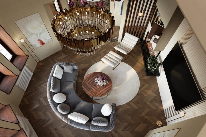 Интерьер гостиной по авторскому проекту Remelle на Стремянной улице
