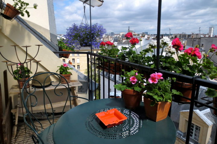 Живые цветы на балконе