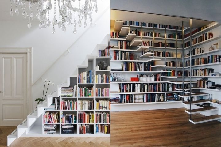 Библиотека, встроенная в лестницу