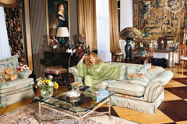 Гостиная в доме Аллы Пугачевой