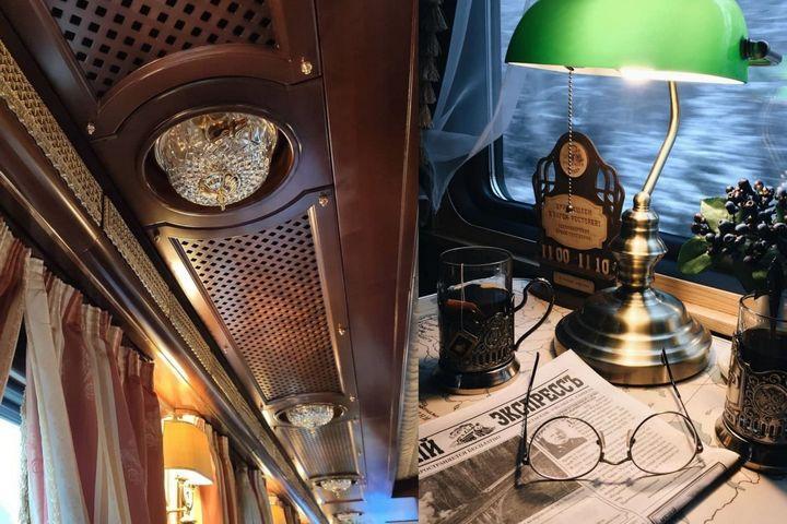 Детали отделки и декора поезда
