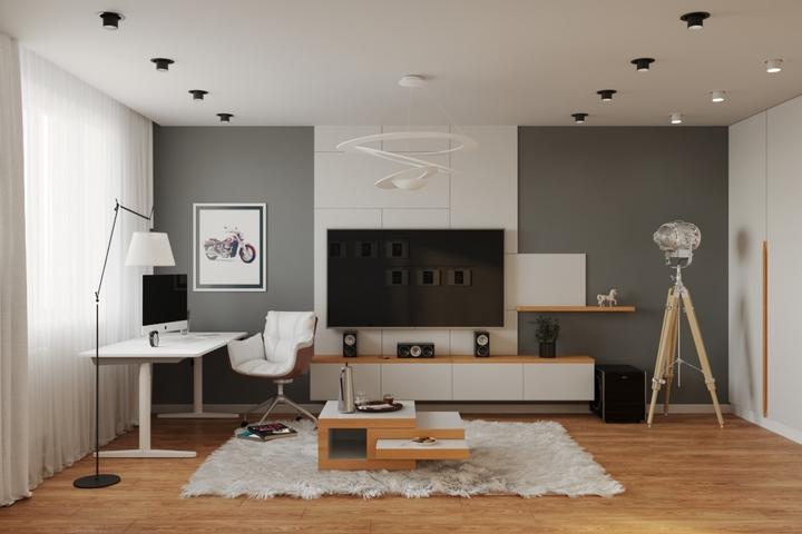 Телевизор с техникой для дома