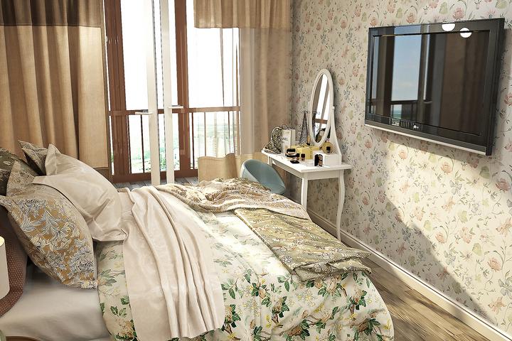 Интерьер спальни по авторскому дизайн Ремэлль на Большом проспекте В.О.